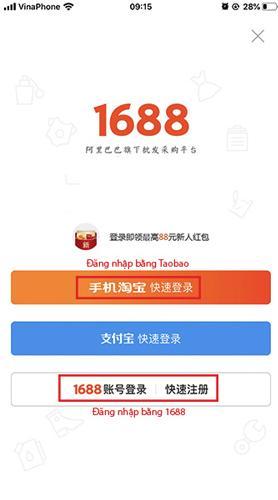 Đăng ký tài khoản và tiến hành lựa chọn vào mục đăng nhập trên app